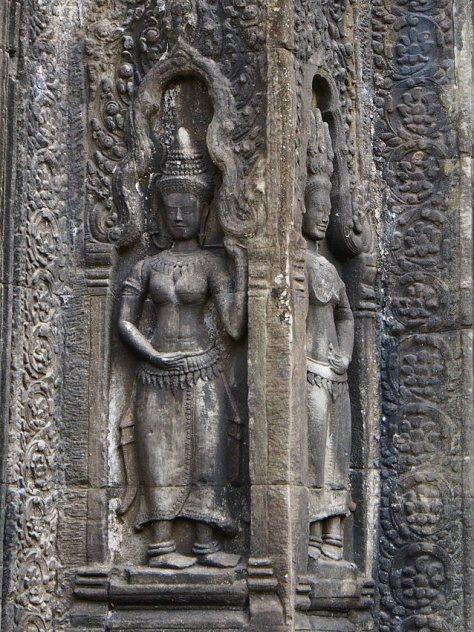 Apsara Carvings at Ta Phrom Temple